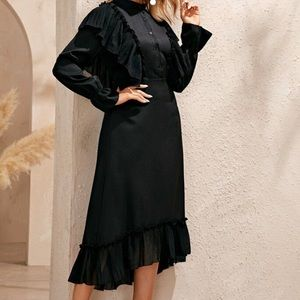 Black dress SHEIN - modest clothing